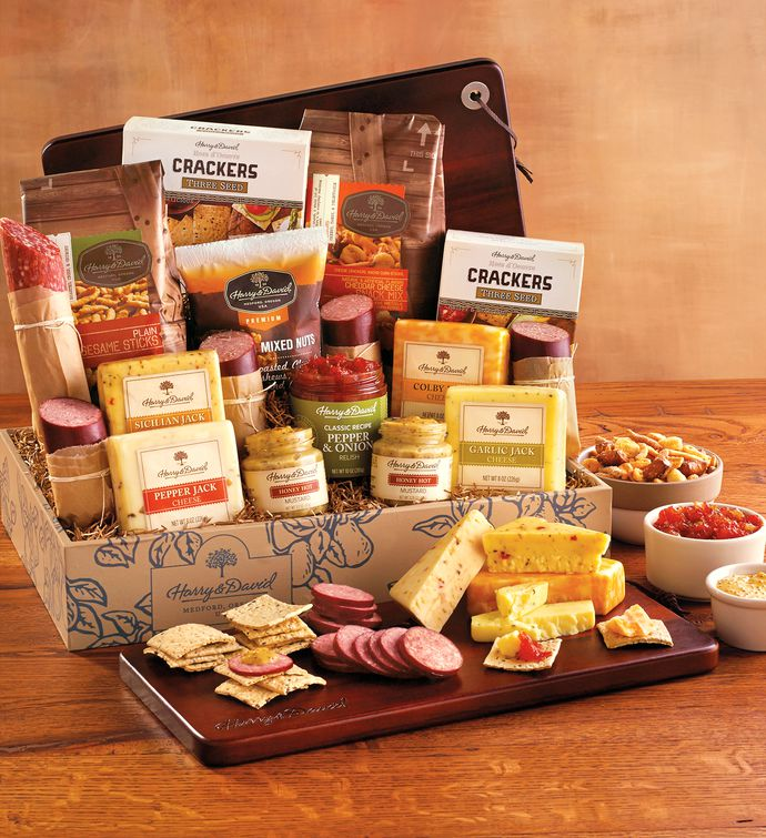 Meat and cheese gift box meat cheese gift baskets harry david negle Choice Image