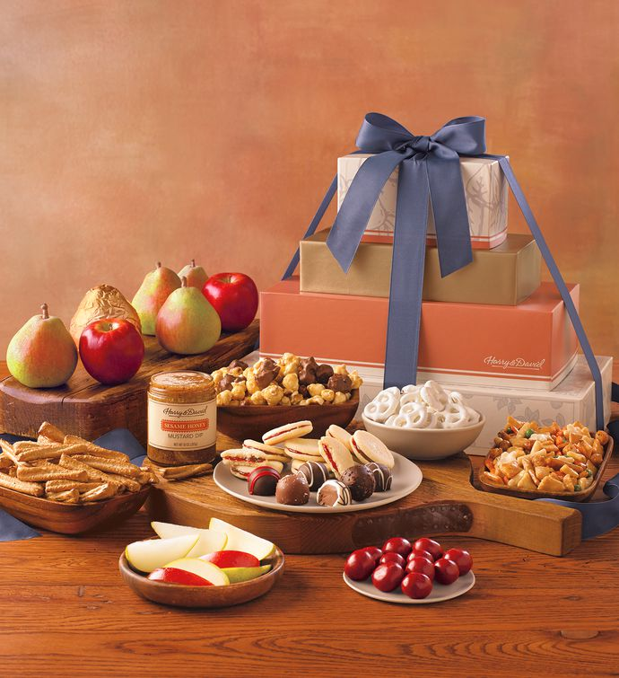 Davids deluxe gift tower gourmet food gifts harry david negle Image collections