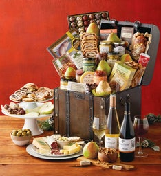 Vintage Gourmet Celebration Chest with Wine