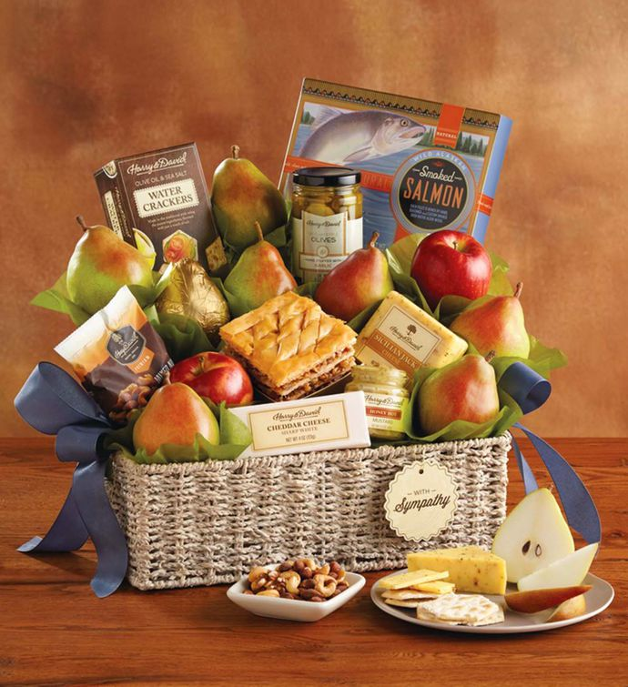 Grand sympathy gift basket harry david negle Gallery