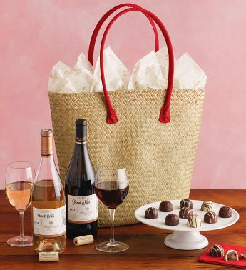 Wine and Chocolate Tote Gift