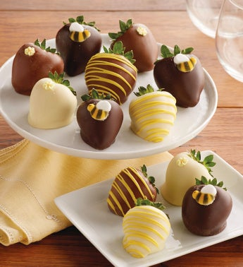 Bumble Bee Chocolate-Covered Strawberries - 12 berries