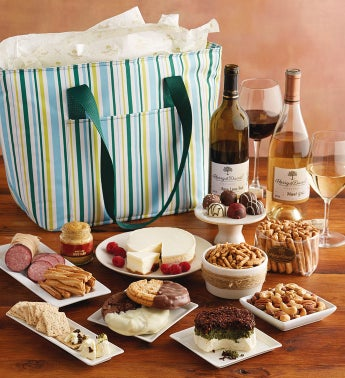 Gourmet Picnic Tote with Wine