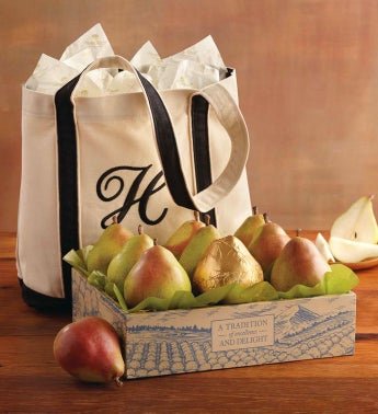 Personalized Tote and Pears