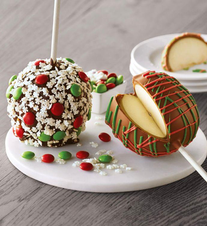 Christmas Chocolate Caramel Apples