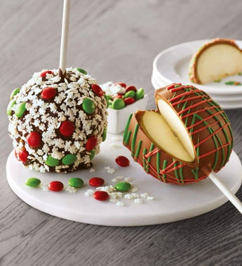 Christmas Chocolate Caramel Apples