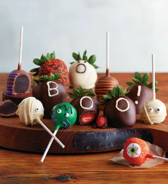 Halloween Chocolate-Covered Strawberries and Cake Pops