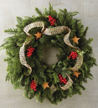 Birch and Burlap Wreath