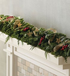 Birch and Burlap Garland
