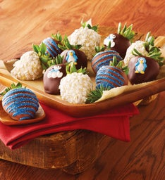 Winter Chocolate-Covered Strawberries