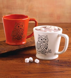 Harvest Owl Mug Set