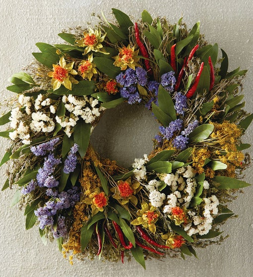 Herb and Statice Wreath