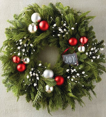 "22"" Joy Chalkboard Wreath"