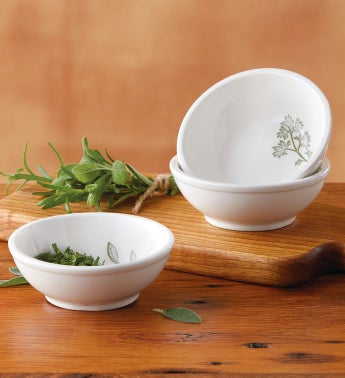 Herb Ramekins - Set of 3
