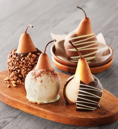 Chocolate CaramelCovered Pears