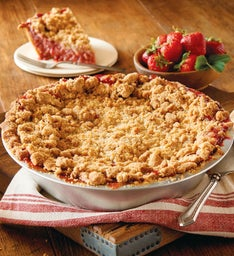 Sweet Lady Jane Deep Dish Strawberry Rhubarb Pie