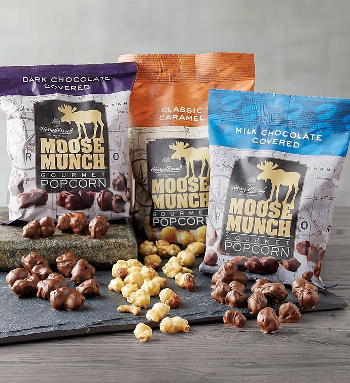 Moose Munch Premium Popcorn Snack Trio