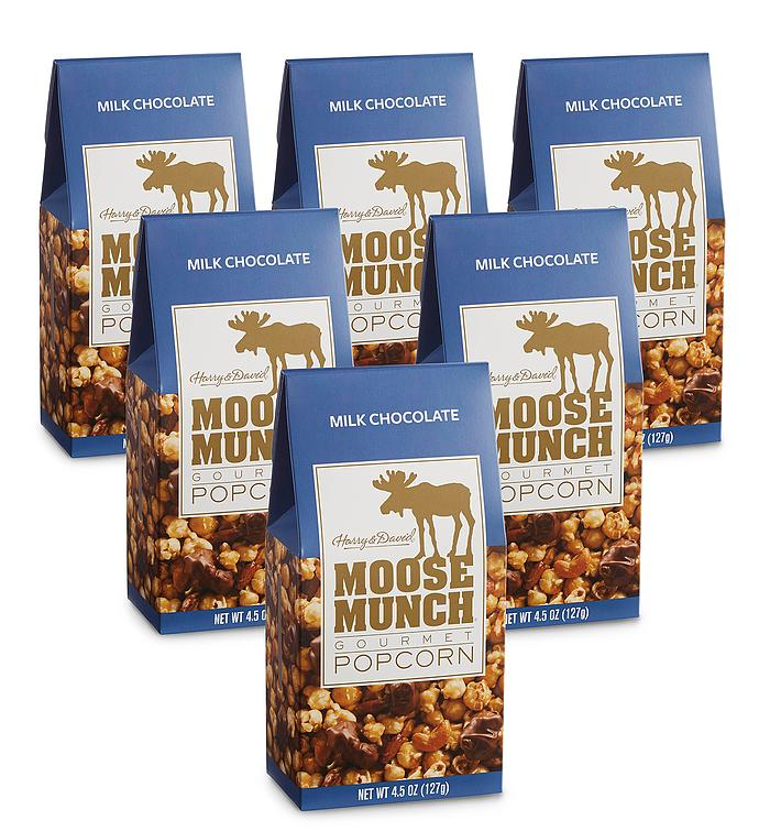 Moose Munch® Milk Chocolate Premium Popcorn 6-Pack
