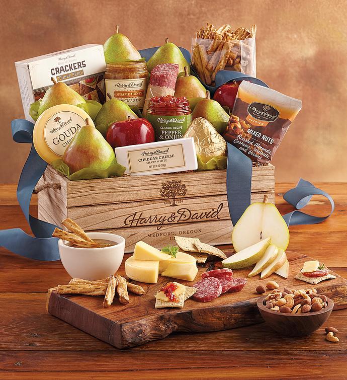 Harry And David Birthday Gift Baskets : Grand signature gift basket mixed snacks fruit baskets