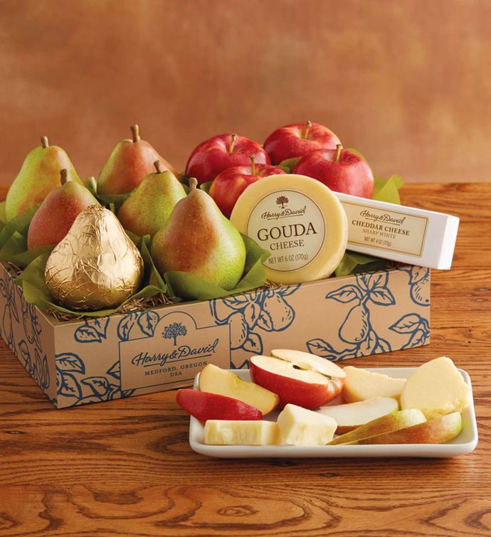Send gifts to canada gift baskets gourmet foods harry david classic pears apples and cheese gift negle Gallery