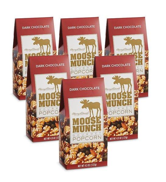 6-Pack Moose Munch Dark Chocolate Premium Popcorn