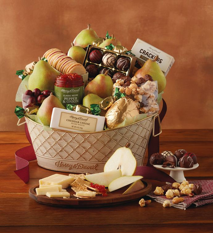 Deluxe favorites gift basket food gift baskets harry david negle