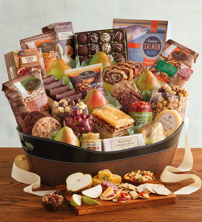 Deluxe hearthside gift basket harry david negle Image collections