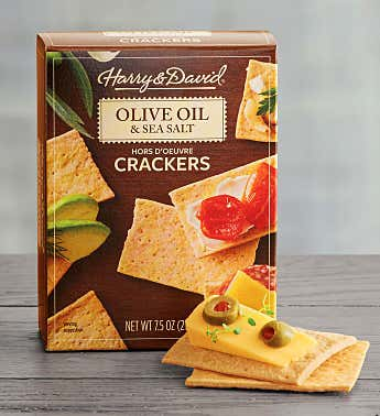Olive Oil and Sea Salt Hors D'oeuvre Crackers