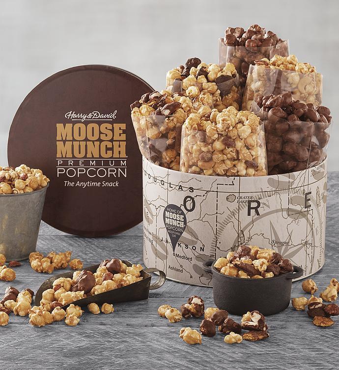 Moose Munch Premium Popcorn Deluxe Tin