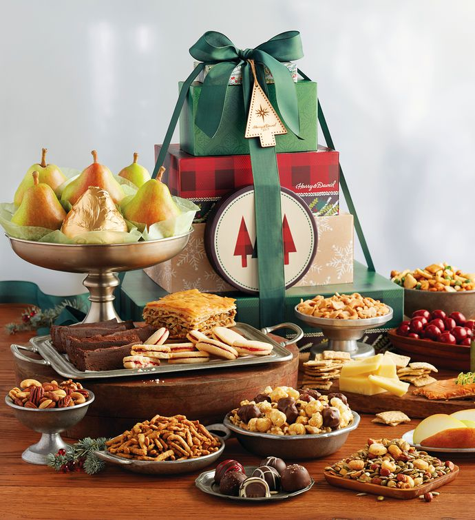 Supreme Holiday Tower of Treats Gift   Ideas for Christmas ...
