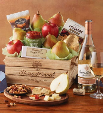 New Year's Signature Gift Basket with Wine by Harry & David