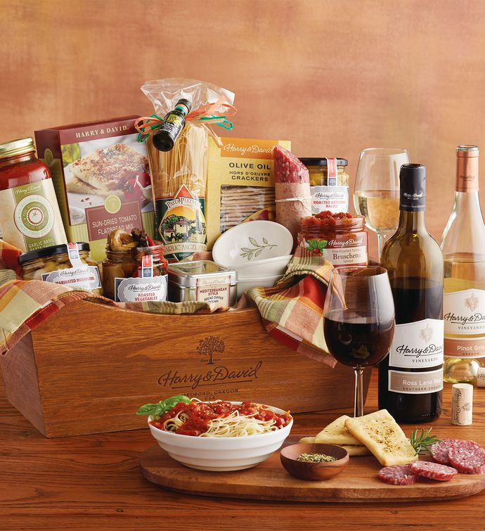 Italian inspirations gift basket with wine harry david italian inspirations gift basket with wine negle Gallery