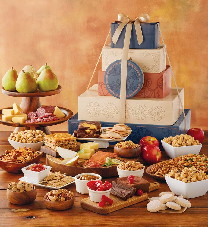 Ultimate tower of treats gift food gifts harry david tower of treats ultimate summer celebration gift negle Image collections