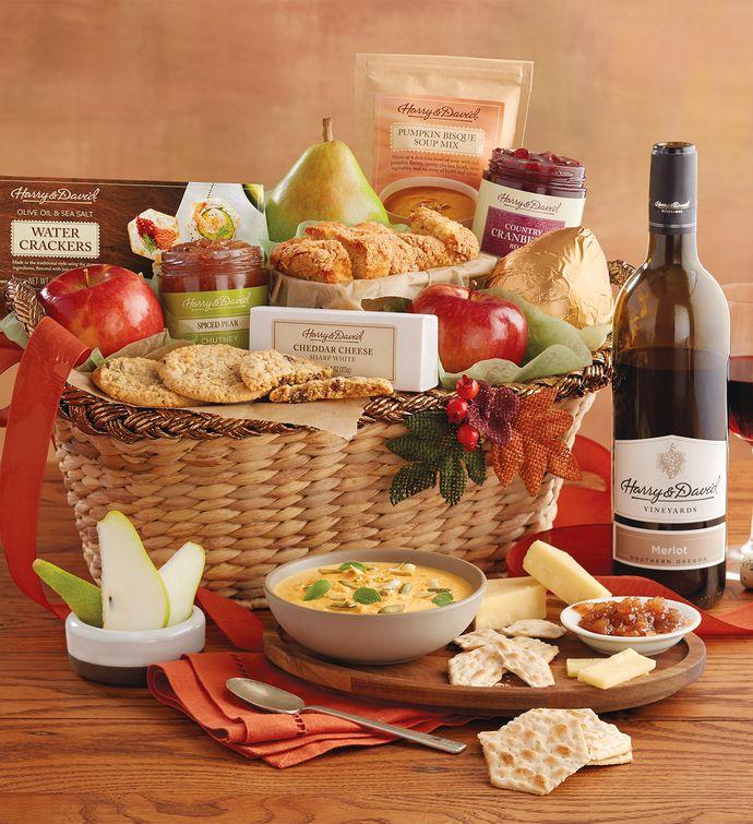 Harry And David Birthday Gift Baskets : Holiday gift basket with wine snack baskets harry