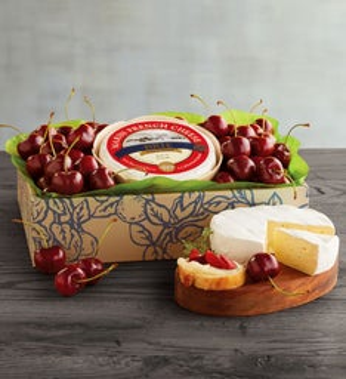 PlumpSweet Cherries and Triple Crme Brie Cheese