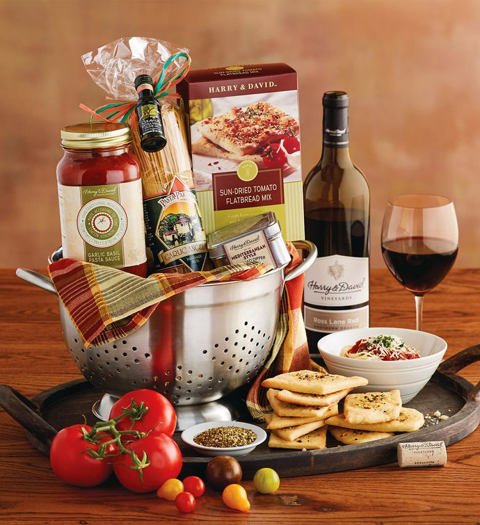 Cucina ditalia colander gift with wine italian gift baskets pasta gift basket with wine negle Choice Image
