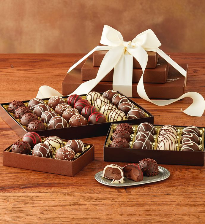 Chocolate gift baskets chocolate gift delivery harry david signature truffle trio negle Gallery