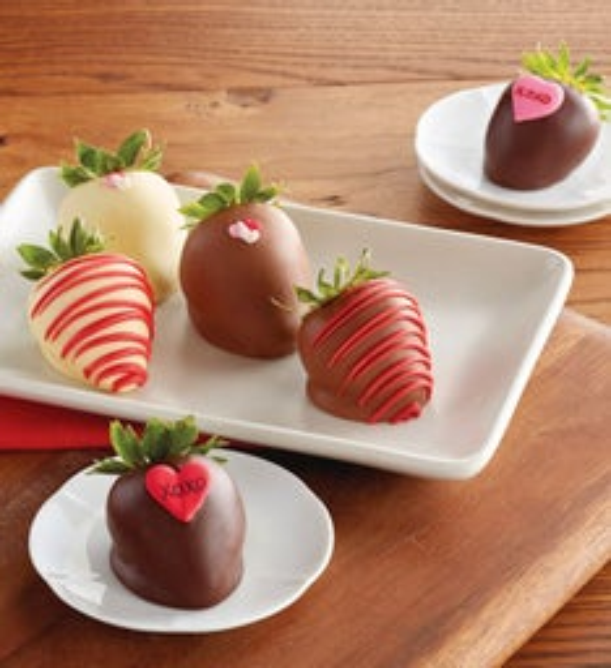 valentines day hand dipped chocolate covered strawberries half dozen