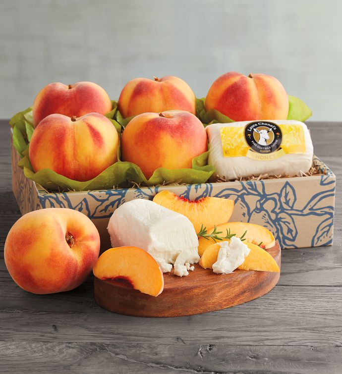 Oregold Peaches and Laura Chenel Honey Chvre