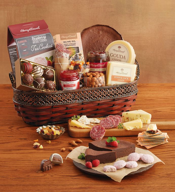 Harry And David Birthday Gift Baskets : Gourmet specialty snacks basket harry david