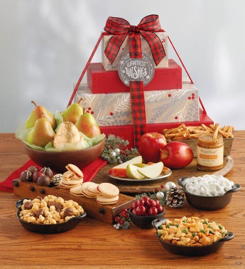 Online gift baskets fruit and food gifts wine clubs harry david deluxe holiday davids gift tower negle Gallery