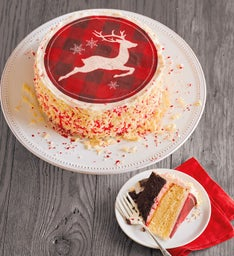 Peppermint Bark Christmas Cake