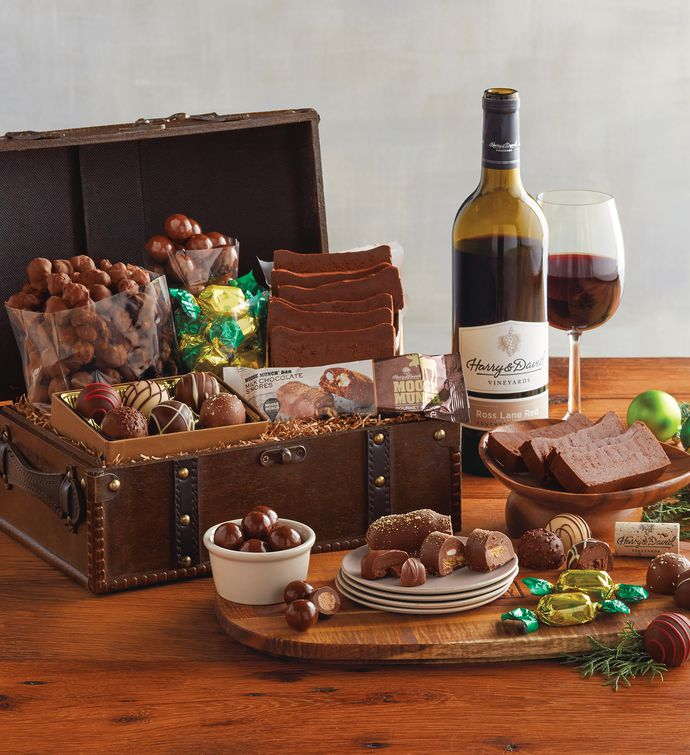 Harry And David Birthday Gift Baskets : Vintage gourmet celebration chest gift baskets harry