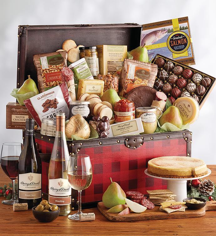 Harry And David Birthday Gift Baskets : Gourmet celebration chest gift baskets harry david