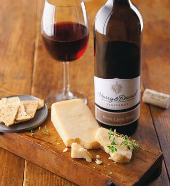 Sartori174 Asiago Cheese and Harry  Davidtrade Ross Lane Red Blend