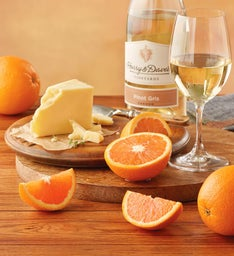 Cara Cara Oranges, TouVelle® Cheese, and Harry & David™ Pinot Gris