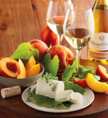 Oregold174 Peaches Honey Goat Cheese and Harry  Davidtrade Chardonnay