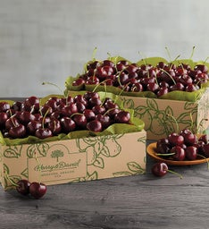 Two Boxes of Early Harvest PlumpSweet Cherries