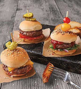 Mini Steak Burgers – Fifteen 2.67-Ounce USDA Prime