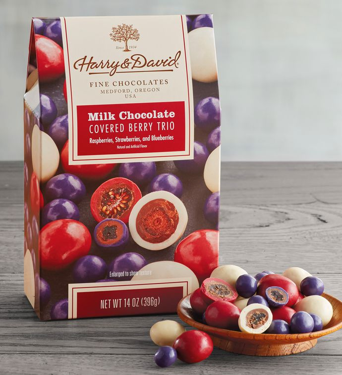 Milk ChocolateCovered Berry Trio